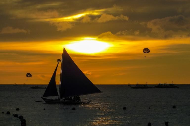Sonnenuntergang auf Boracay, Philippinen