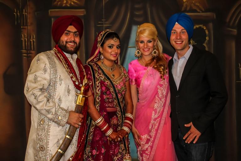 Sikh-Hochzeit in Punjab, Indien