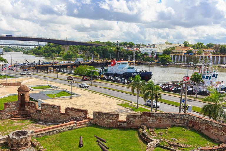 Santo Domingo Ausflug | Alcazar de Colon - Aussicht vom Obergeschoss