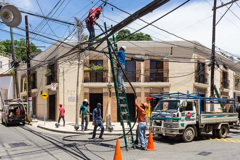 Santo Domingo Ausflug | Innenstadt - Bauarbeiten